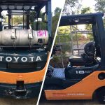 Forklift Washing at Truck Washing Brisbane Company Commercial Fleet Solutions