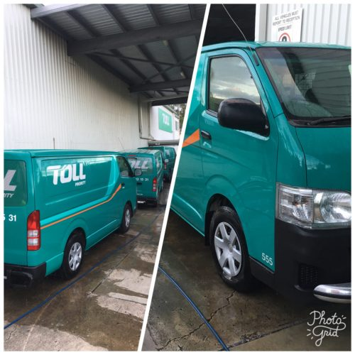 Commercial Fleet Detailing and Washing at Truck Washing Brisbane Company Commercial Fleet Solutions